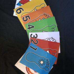 8 color pictogram cards A4 plasticized