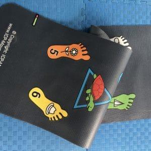 Kumite color pictogram mats IKF yoga