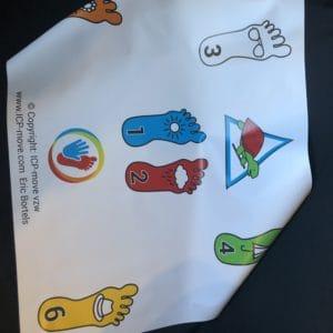 Color pictogram mats IKF chair